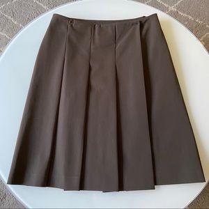 EUC S MaxMara Brown Pleaded Skirt